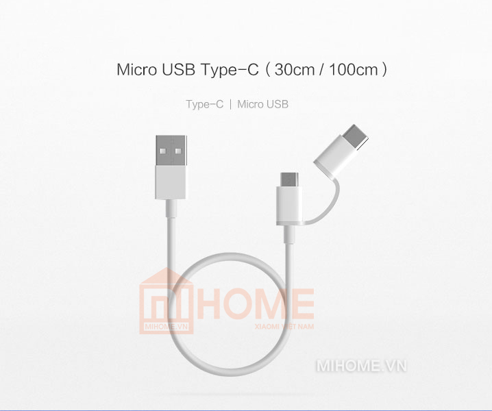 cable 2 cong micro typec xiaomi 2