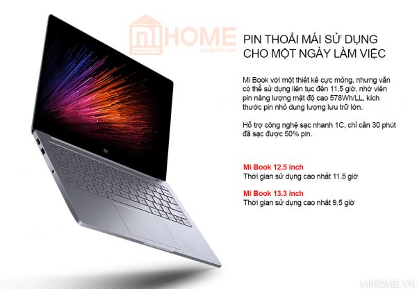 laptop xiaomi mi notebook air 133 2017 van tay 6