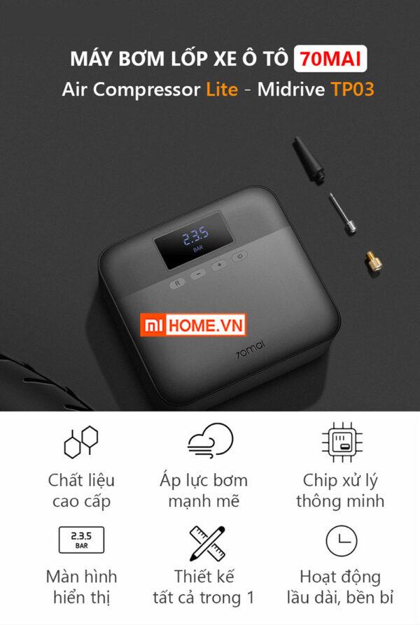 May Bom Lop Xe Oto Xiaomi 70MAI Midrive TP03 2