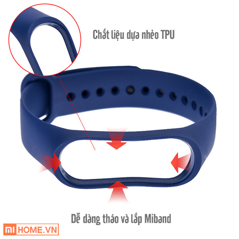 Vong tay thay the Mi Band 4 2