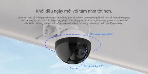 Camera ngoai troi xoay 360 Ezviz C8C 4