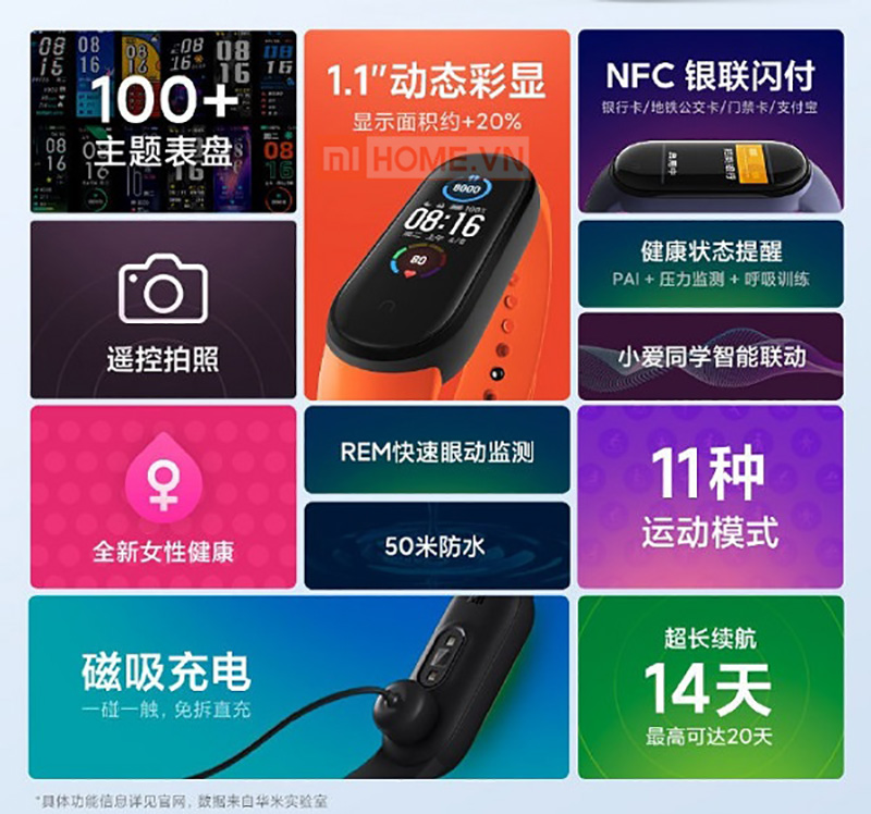 Mi band 6 vong deo tay thong minh 7