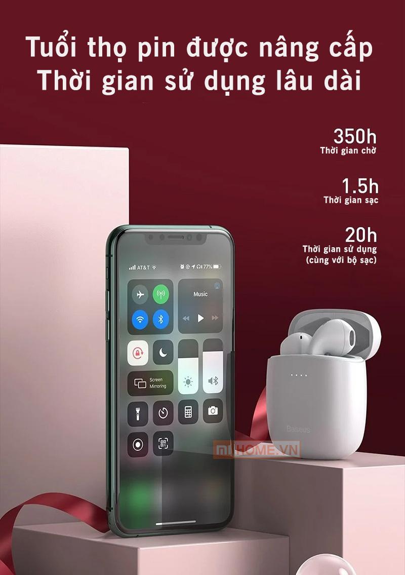 Tai Nghe Bluetooth Baseus W04 8