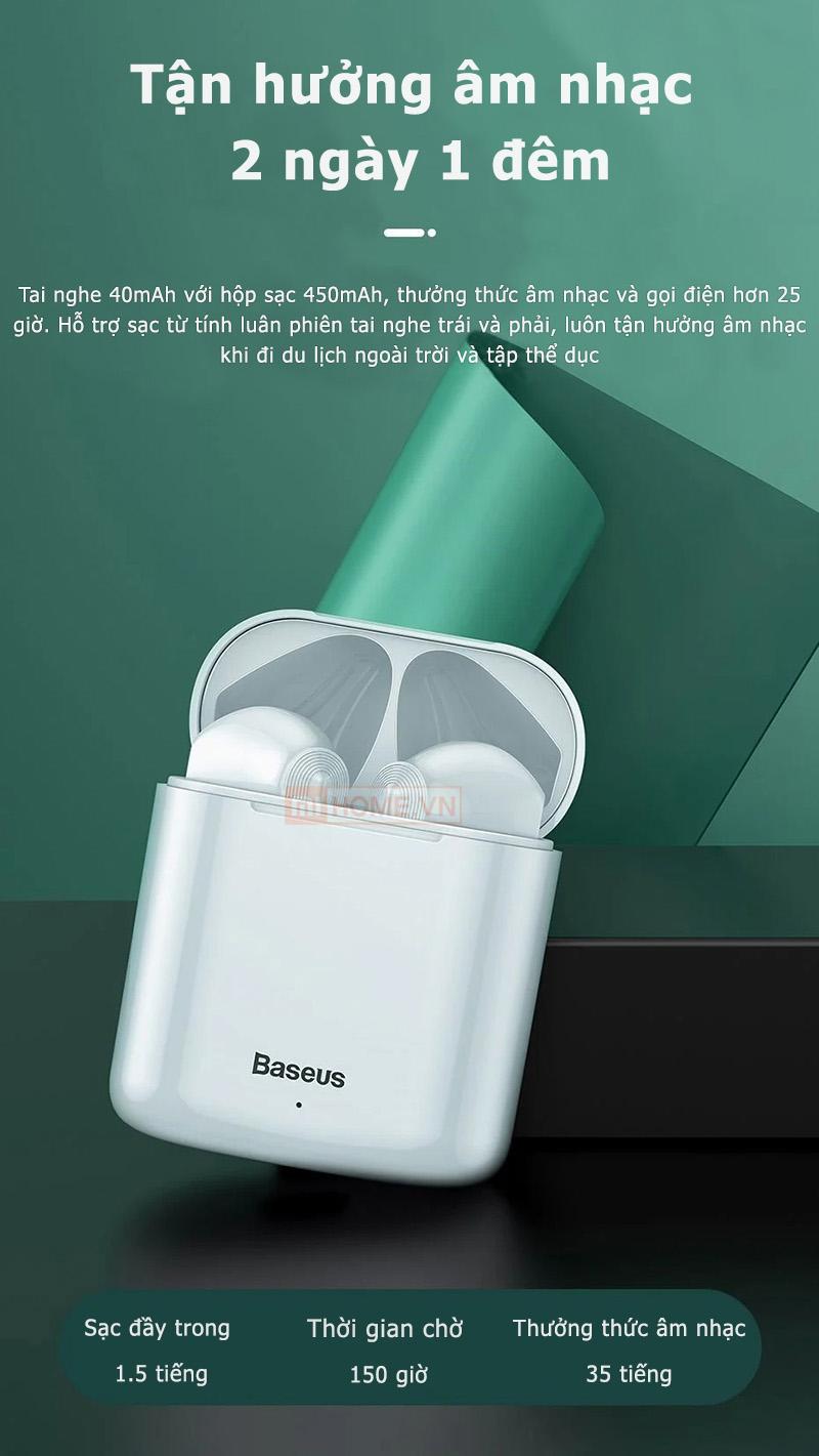 Tai Nghe Bluetooth Baseus W09 13 1
