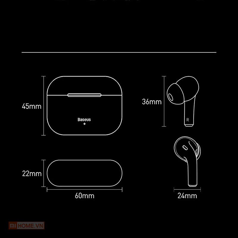 Tai nghe Baseus W3 True Wireless 7