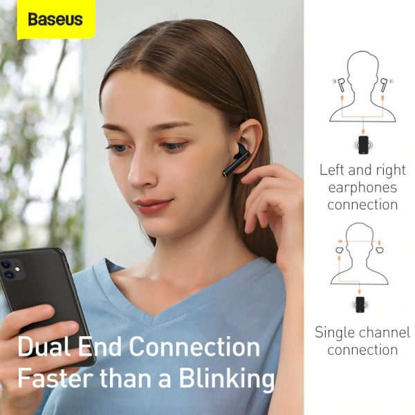 Tai nghe Bluetooth Baseus W05 White 4