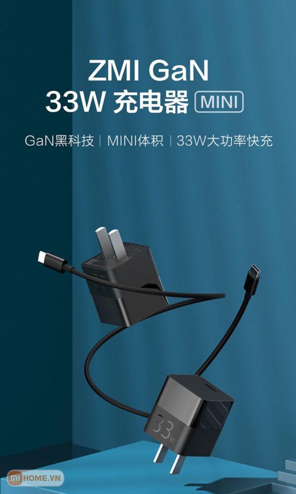 Cu sac nhanh Xiaomi ZMI 33W Gan 1
