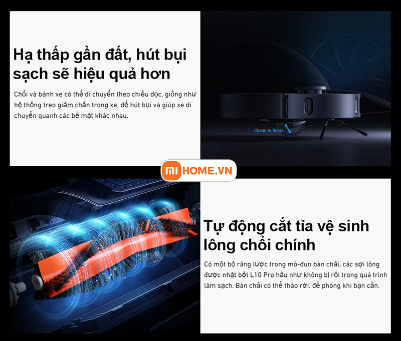 Robot hut bui lau nha Xiaomi Dreame L10 Pro 8