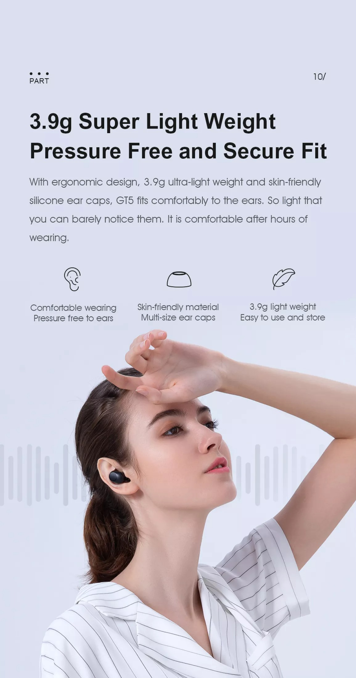 Tai nghe Bluetooth Haylou GT5 12