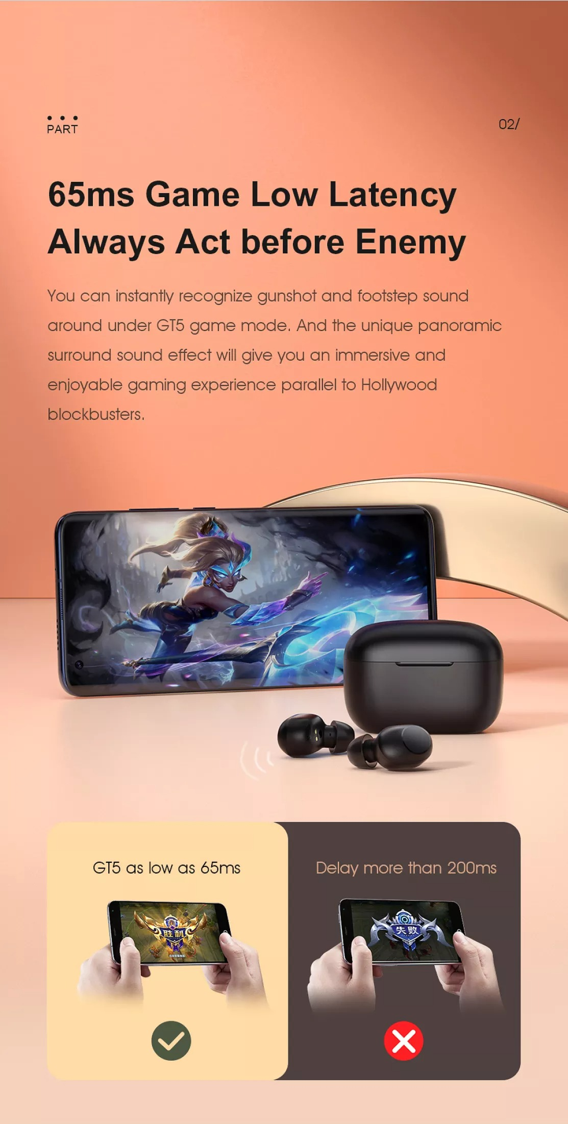 Tai nghe Bluetooth Haylou GT5 4