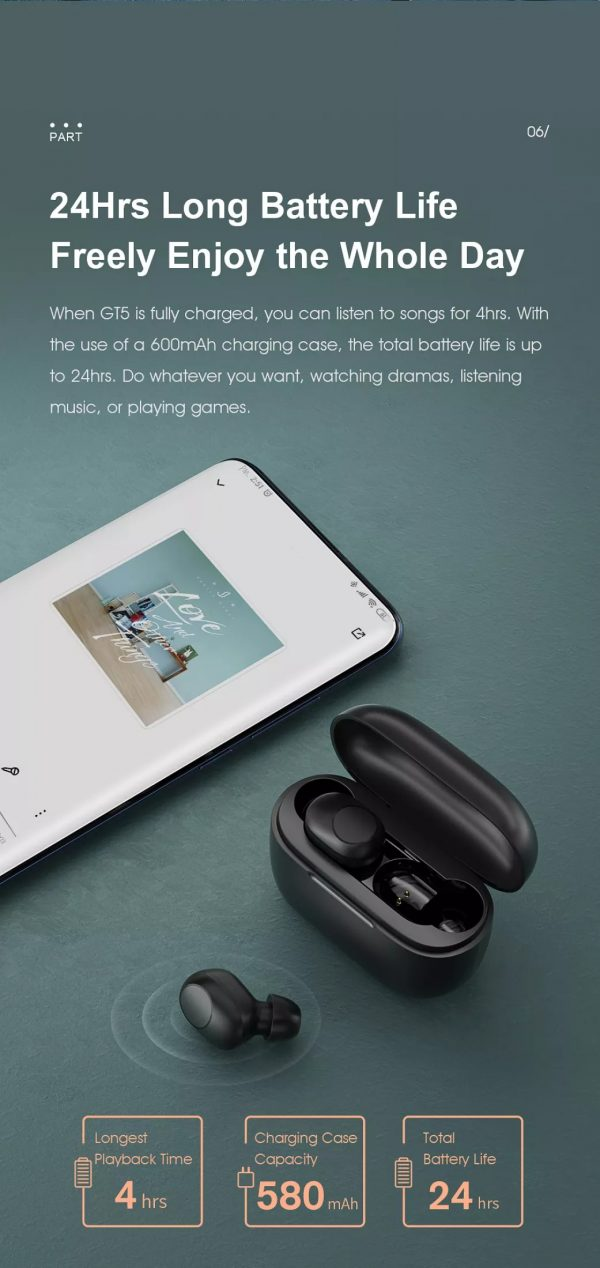 Tai nghe Bluetooth Haylou GT5 8