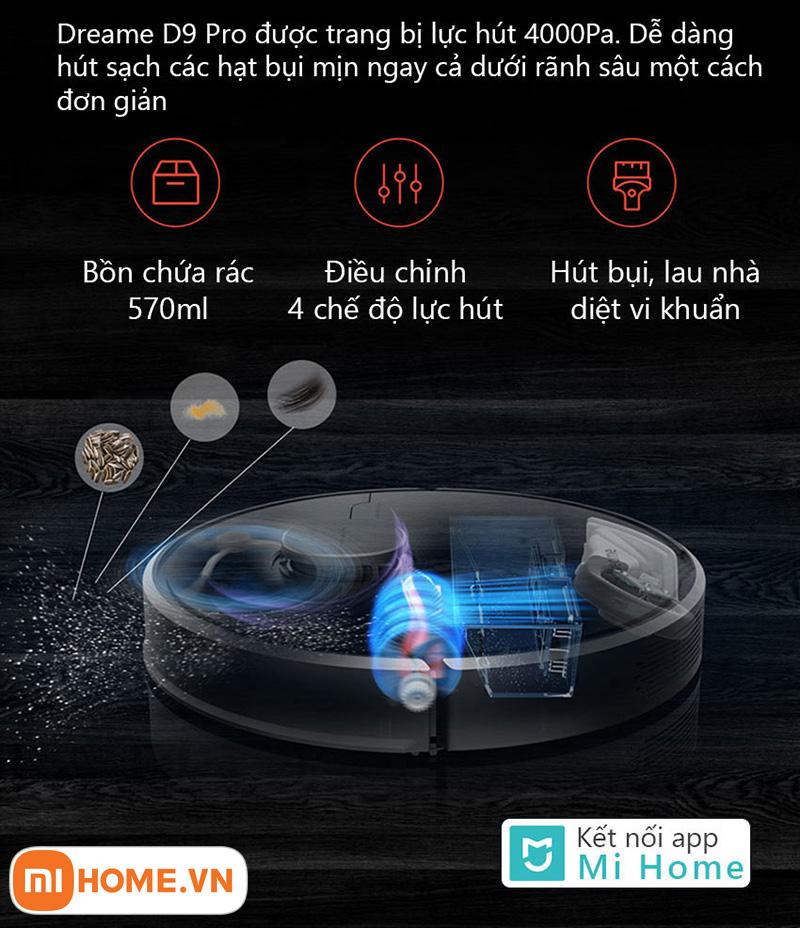Robot hut bui lau nha Dreame D9 Pro 9